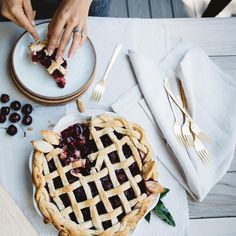 canvas home oslo cutlery and the most beautiful pie ever.