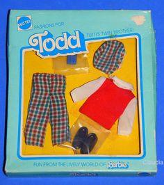 Vintage Barbie Tutti Todd European Karo Mode Square Style 9481 VHTF | eBay
