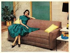 Sofa bed advert - Life magazine - June 13, 1955.