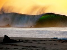 Tiago Gil surfing Pipeline at sunset on the North Shore of Oahu, Hawaii. Photograph by Matt Kurvin. Skate, North Shore Oahu, Surfing Photos, Hawaii Surf, Hawaiian Islands, Surfs Up, Photos Of The Week, Island Life, Awesome