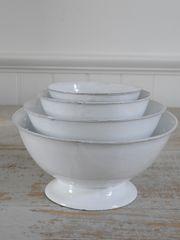 Nesting ironstone bowls