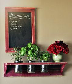 Indoor Hanging Mason Jar Herb Garden