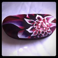 Rose Butterfly Leaves Flower Plant Glasses Case Eyeglasses Clam Shell Holder Storage Box