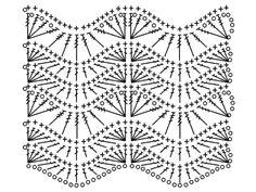 Discussion on LiveInternet - Russian Online Diaries Service Zig Zag Crochet, Crochet Ripple, Crochet Diy, Crochet Motifs, Granny Square Crochet Pattern, Crochet Diagram, Crochet Stitches Patterns, Crochet Chart, Stitch Patterns