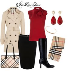"""Love the classic Burberry look for fall and winter! """"Christmas in London"""" by audge999 on Polyvore"""