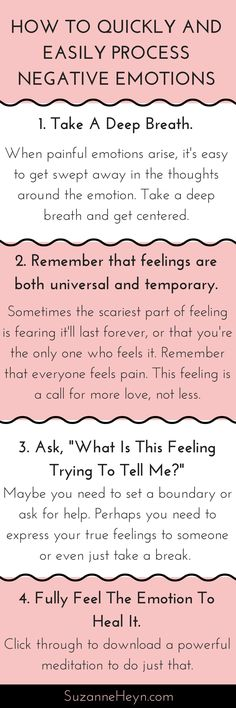 Learn how to release negative emotions like anger and sadness in four easy steps.