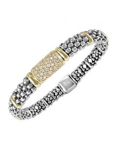 LAGOS Jewelry | Diamonds & Caviar | Diamond Caviar Bracelet. Available at Hingham Jewelers!
