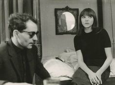 Jean-Luc Godard and Anna Karina, ca 1965.  Giancarlo Botti (b.1931).