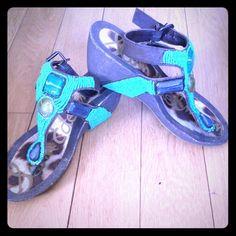 Sam edelman wedge sandals SiZe 8 Worn maybe twice Good condition Slight mark Sam Edelman Shoes Wedges