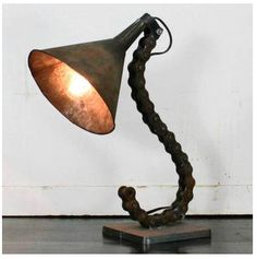 Steampunk BikeChain Lamp