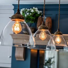 — Westbourne Homes Mason Jar Lamp, Light Bulb, Table Lamp, Ceiling Lights, Lighting, Interior, Homes, Home Decor, Country