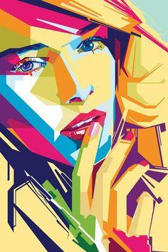 Stylische Illustrations-Portraits von MIIM: http://www.langweiledich.net/2014/01/geometrische-illustrations-portraits-von-miim/