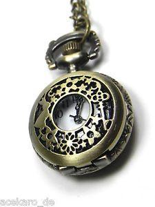 Taschenuhr Alice im Wunderland Steampunk Uhr an langer Kette Halskette NEU