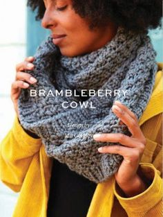 A cosy, super chunky cowl in textured bramble stitch with ribbed edging. Knit this up in your favourite shade of Rowan Big Wool for an accessory that you can't live without. Winter Accessories, Crochet Accessories, Big Wool, Field Guide, Easy Knitting, Pattern Books, Rowan, Arm Warmers, Free Pattern