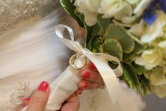 I tied my grandparents' wedding rings to my bouquet (something borrowed and something old).