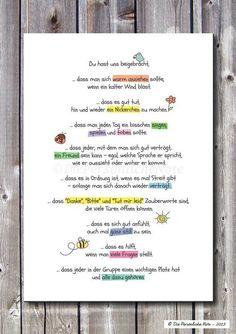 Digitaldruck - Druck/Print: Nette Geschenkidee für Erzieher/in - ein Designerstück von DiePersoenlicheNote bei DaWanda