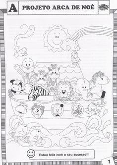 BAUZINHO DA WEB - BAÚ DA WEB Desenhos para colorir pintar e Atividades Escolares: Projeto Arca de Noé com atividades para imprimir!