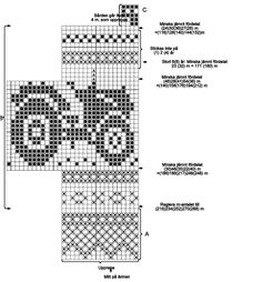 Diagram förstoring Knitting Charts, Knitting Stitches, Knitting For Kids, Baby Knitting, Cross Stitch Patterns, Knitting Patterns, Necktie Quilt, Fair Isle Pattern, Pattern Library