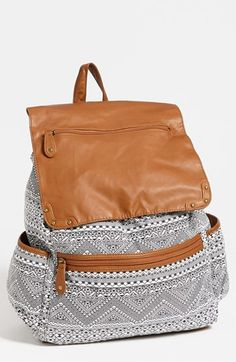 Lulu Faux Leather Flap Print Backpack available at #Nordstrom, this is the cutest backpack I have ever seen