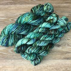 Chrysocolla Hand Dyed Speckled Sock or Fingering by WIPyarns Crochet Ideas, Crochet Projects, Yarn For Sale, Yarn Cake, Knit Hats, Hand Dyed Yarn, Knitting Yarn, Color Patterns, Spinning