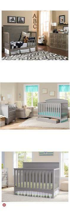 Shop Target for standard & full-sized & crib you will love at great low prices. Free shipping on orders of $35+ or free same-day pick-up in store. Baby Bedroom, Baby Room Decor, Nursery Room, Kids Bedroom, Ikea Crib Hack, Ladybug Nursery, Baby Furniture, Furniture Nyc, Rustic Furniture