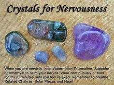 Nervousness: watermelon tourmaline, sapphire, amethyst