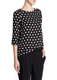 MANGO - CLOTHING - Tops - Polka-dot crepé blouse