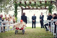 I want Leah to be in the wagon for our  wedding, since shes standing up at the alter with us <3