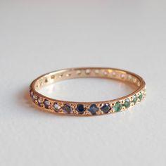 Eternity Ring Safir Rubin Granat Amethyst Blue von ARDONN
