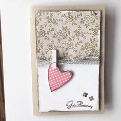 Card scrapbook #heart Gute Besserung!