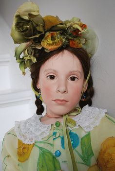 Sara - porcelain doll by Sabine Esche 90cm tall or about 36""