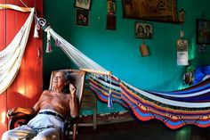 A Nicaraguan home of a traditional hammock maker Photographer Edwina Pickles