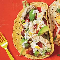 Cobb Salad Tacos | CookingLight.com #myplate #protein #vegetables