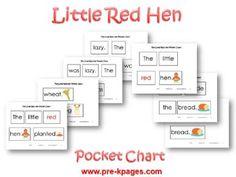 Little Red Hen Pocket Chart Activity via www.pre-kpages.com