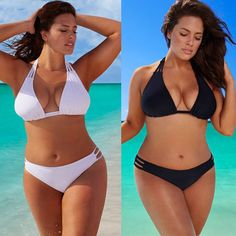 2017 Sexy Plus Size Bikini Set Low Waist Push Up Big Size Swimsuit Swimwear Large Size Bikini Tocas Feminina Bathing Suits Bikini Push Up, Sexy Bikini, Bikini Dos Nu, Mode Du Bikini, Halter Bikini, Sexy Bra, Bikini Swimsuit, Bikini Babes, Thong Bikini