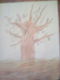 This is a colored pencil drawing.I got this idea from derricktheartist.blogspot.com