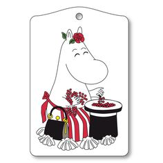 Moomin Mamma Cutting Board Get your meals together and prepared with a little whimsy on the side. Opto Design's Moomin Mamma Cutting Board features everyone's favorite Mamma collecting and counting berries to be eaten later in t. Moomin Shop, Tove Jansson, Just In Case, Cutting Board, Great Gifts, Snoopy, Drawings, Handmade, Design