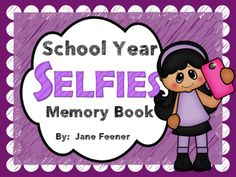 """End of year memory book using the popular social media trend of taking """"selfies""""."""