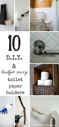 DIY and Inexpensive Toilet Paper Holder Ideas – Back to Basics Series