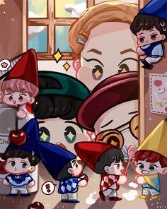 요구르트를 먹으려 수납 장을 연 첸백시! 근데 그 안에는 낯익은 얼굴의 요정 6명이 있었다...(두둥)    #EXO  #엑소  #CHENBAEKXI  #첸백시  #EXODIUM