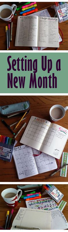 Setting up a new month in the bullet journal May   LIttlecoffeefox.com