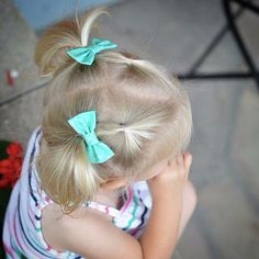 Add some personality to your pigtails!   Bows: Mint by KlementineCreations on Etsy