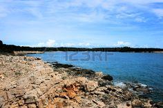 blue sea in national park Brioni, Croatia