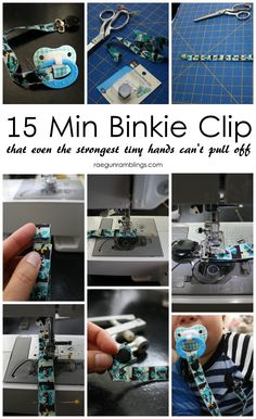Step by step tutorial for how to make a binkie or pacifier clip.