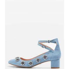 4ac42bc5 Topshop Jaida Gem Embellished Sandals (270 PLN) ❤ liked on Polyvore  featuring shoes,