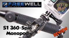 FreeWell Pro S1 360 Spin Carbon Fibre Monopod for GoPro / Action Cameras...