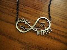 """Prototype: Stainless Steel """"Timey Wimey"""" Necklace (Thoughts?)"""