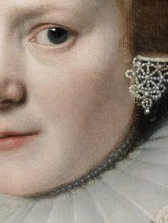 """Michel Jansz van Miereveld, """"Portrait de femme"""", 1625 (détail)"""