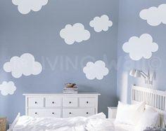 Wolke-Aufkleber Wandtattoo weiße Wolke von Jesabi auf Etsy