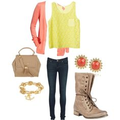 """Combat Boots with the Simplest Outfit"" by taylorratliff on Polyvore"